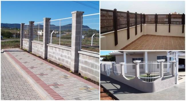 muros com diversos tipos de grades 2