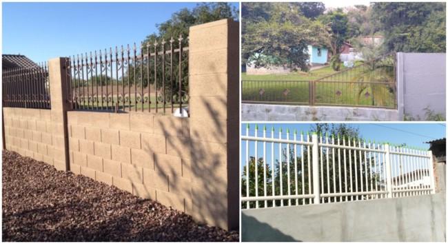 muros com diversos tipos de grades 4