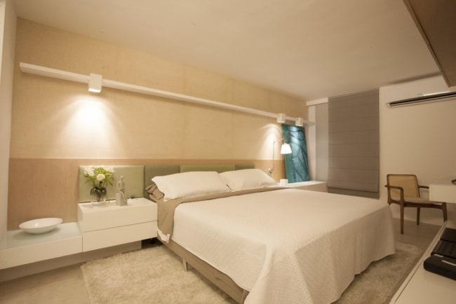 paredes do quarto em cor nude