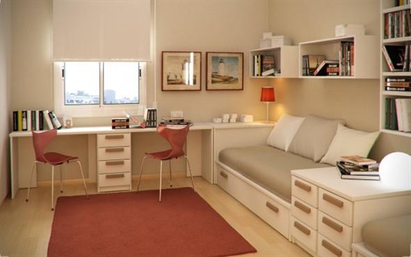 quarto com cor nude
