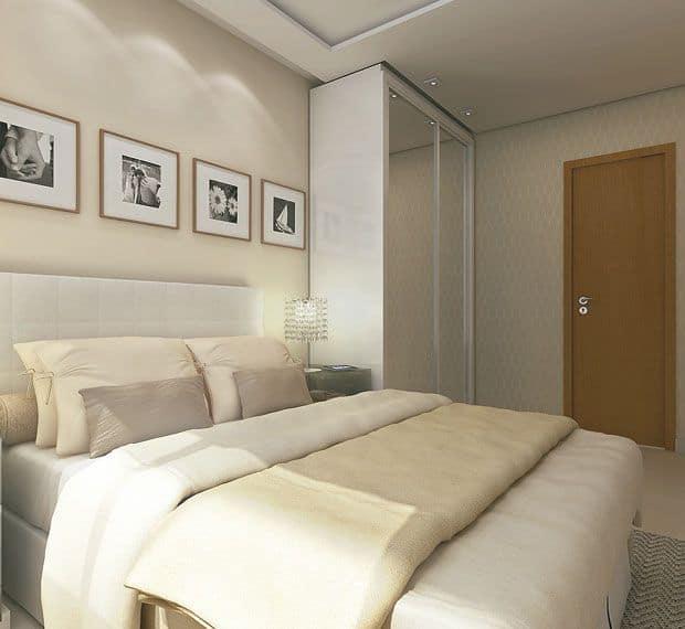 quarto com cores nude
