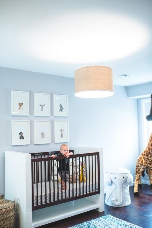 quarto de bebê safari azul bebe