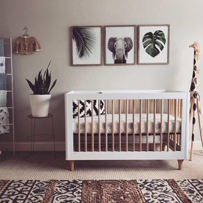 quarto de bebê safari clean