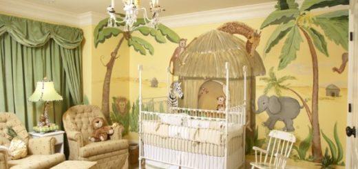 quarto de bebê safari cor verde