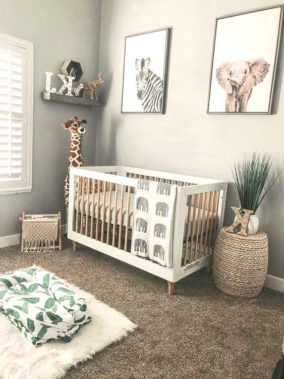 quarto de bebê safari simples e pratica
