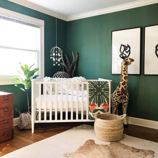 quarto de bebê safari verde clean