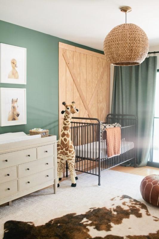quarto de bebê safari verde como fazer