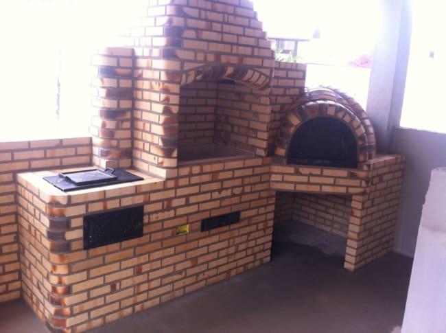 tijolo refratário em churrasqueira ideias