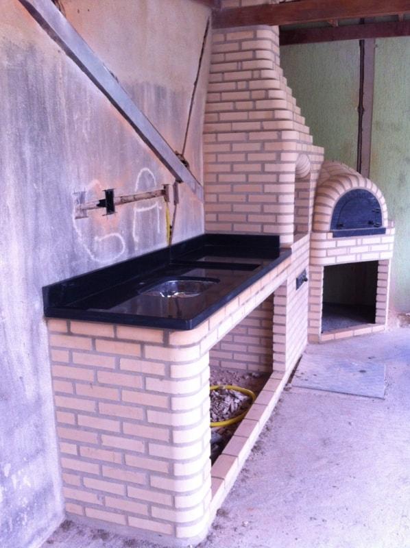 tijolo refratário em churrasqueira