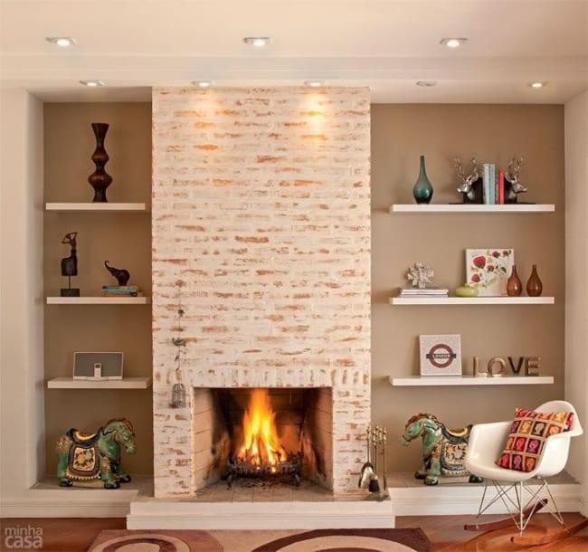 tijolo refratário em lareira
