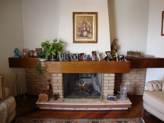 tijolo refratário na lareira
