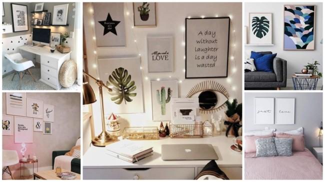 como usar quadros tumblr na decoração