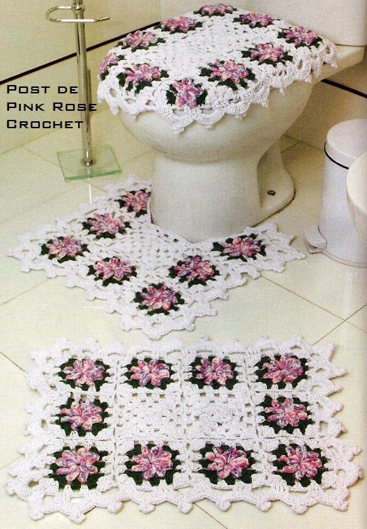 14 tapete de crochê square com flores