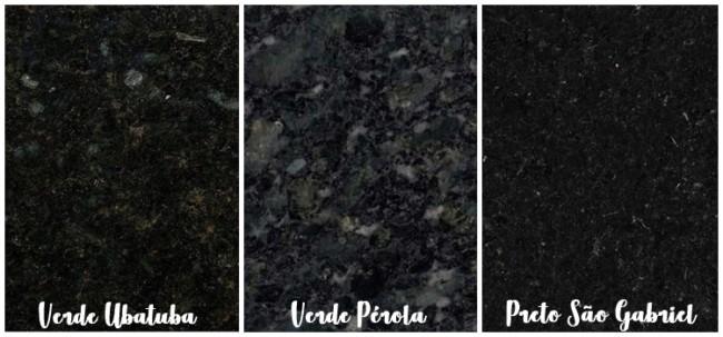 cores de granito escuro para cozinha