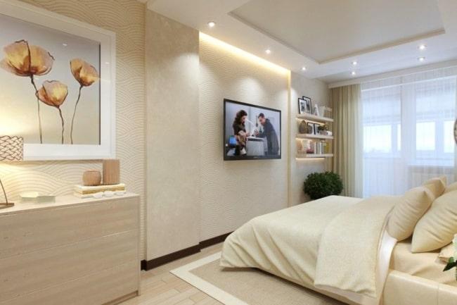 decoração de quarto de casal creme