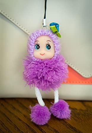 modelo de boneca de pompom de lã