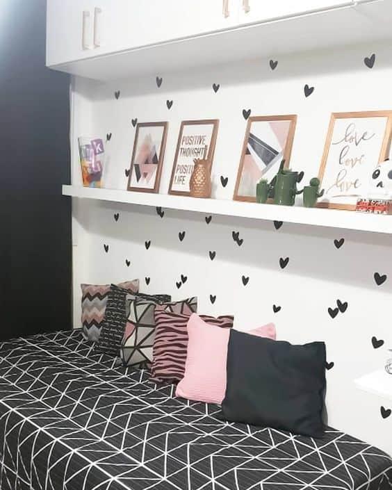 quarto de solteiro decorado ao estilo tumblr