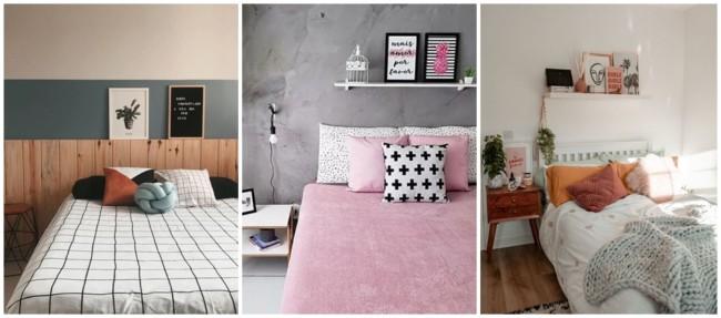 decoração com quadros tumblr no quarto