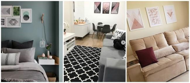 decoração com quadros tumblr geométricos