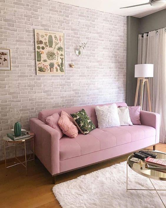 sala tumblr decorada com quadro de plantas na parede