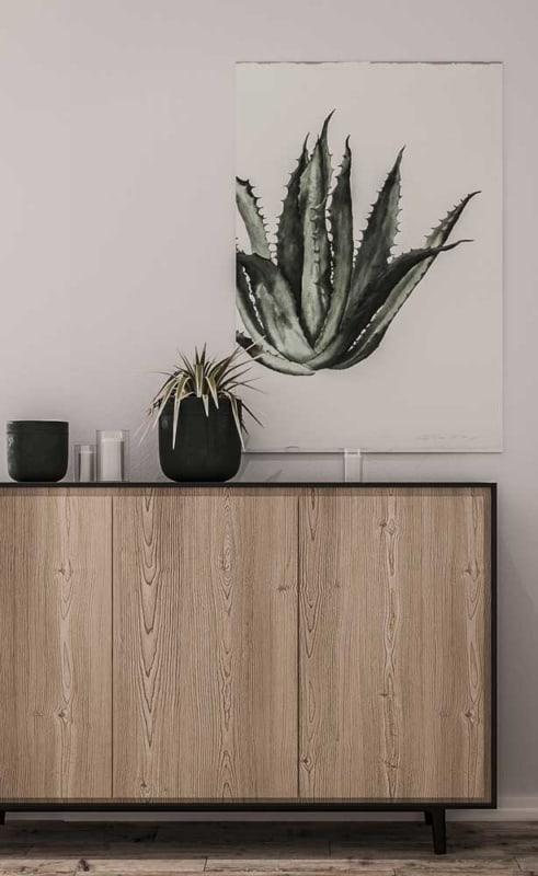 como usar quadro de planta na decoração