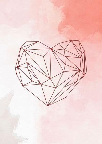 quadro tumblr com coração para imprimir grátis