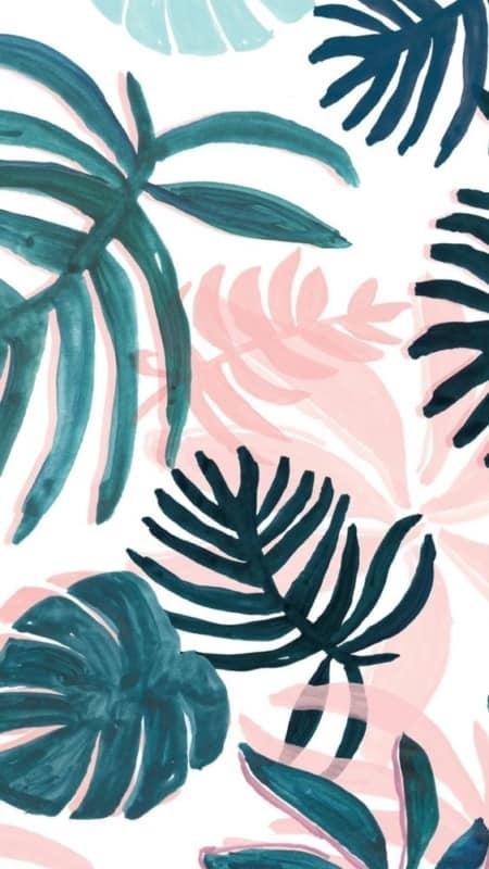 quadro tumblr com folhagens para imprimir