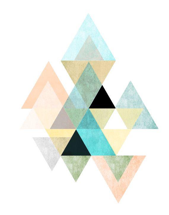 quadro geométrico colorido para imprimir grátis