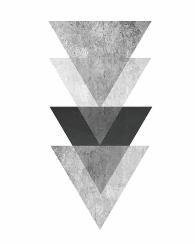 quadro geométrico em preto e branco para imprimir grátis