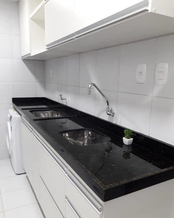 pia de cozinha em granito Verde Ubatuba