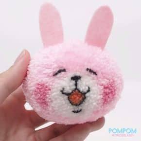 coelho de pompom de lã