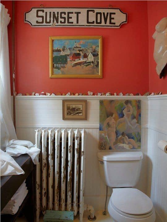 Cor coral para banheiro
