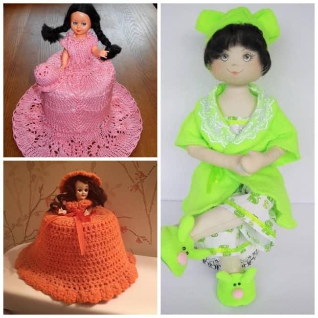 Modelos de boneca porta papel higiênico34