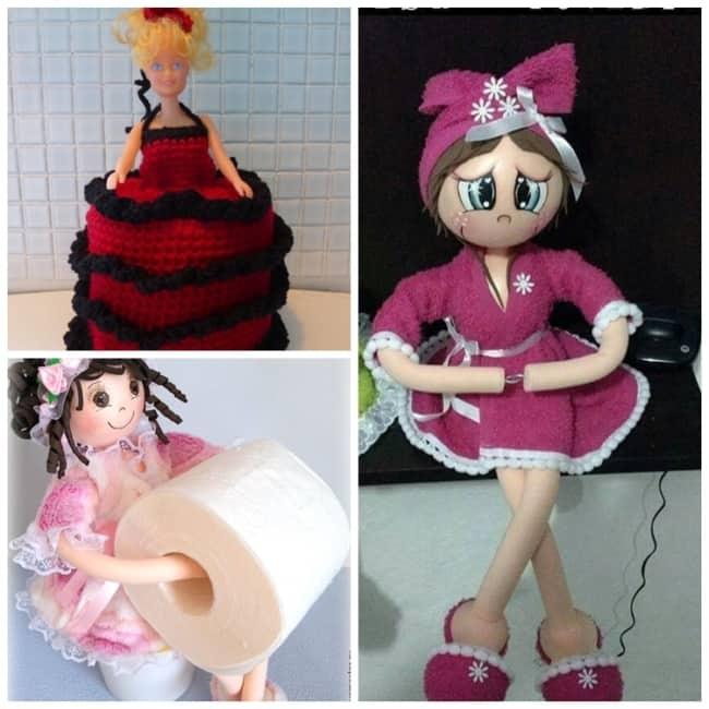 Modelos de boneca porta papel higiênico35