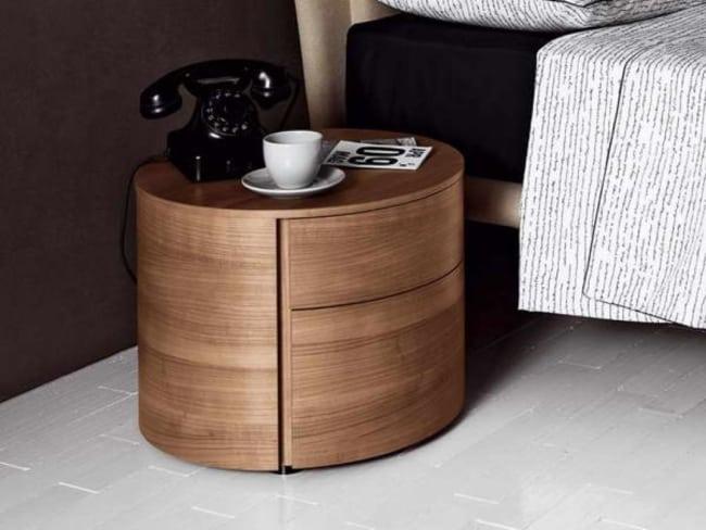 criado mudo redondo cor madeira