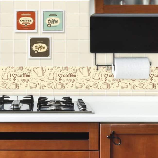 faixa para cozinha papel de parede decorado
