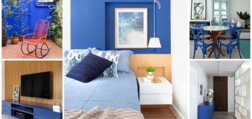 decoração em azul royal