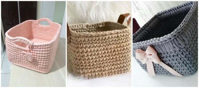 modelos de cestos de fio de malha quadrados