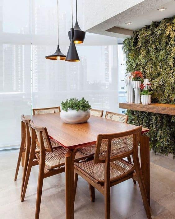 mesa de jantar moderna em madeira