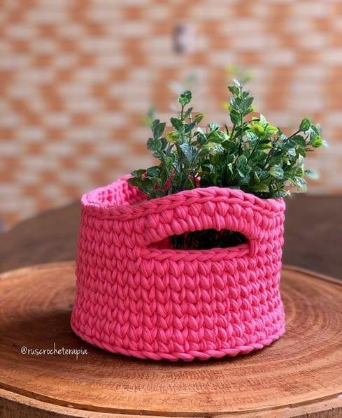 cesto de fio de malha para planta