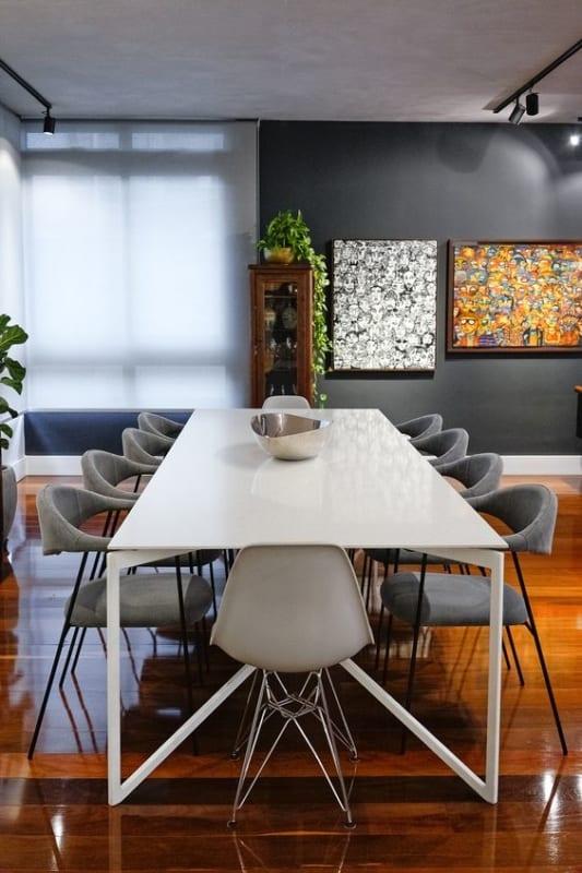 mesa de jantar retangular grande
