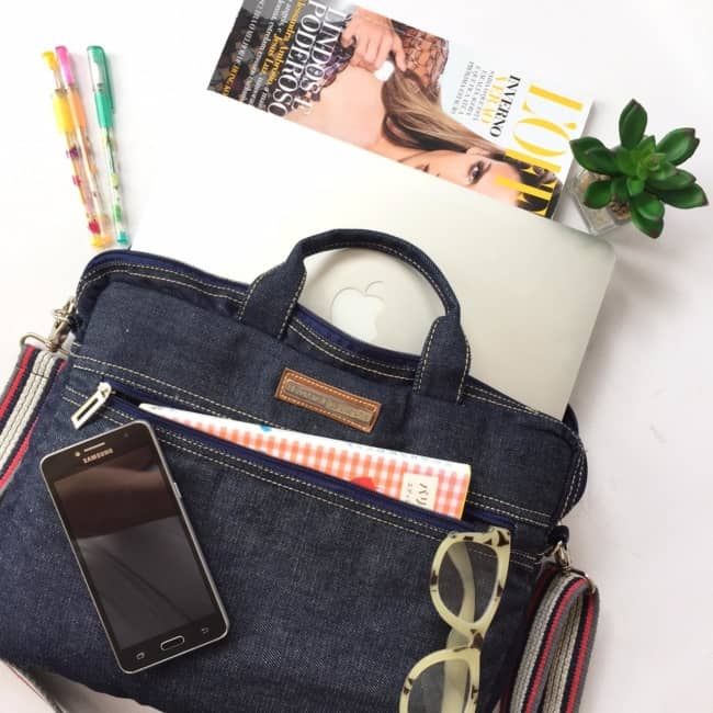 Bolsa jeans para notebook