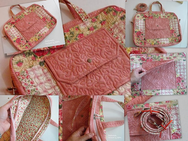 Modelo de bolsa para notebook de tecido