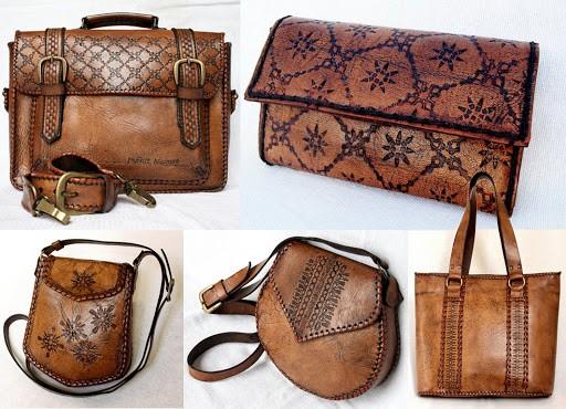 Modelos de bolsas de couro artesanais