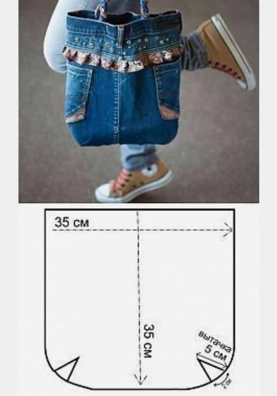 Molde para bolsa jeans