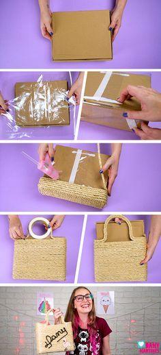 Passo a passo de bolsa de sisal artesanal