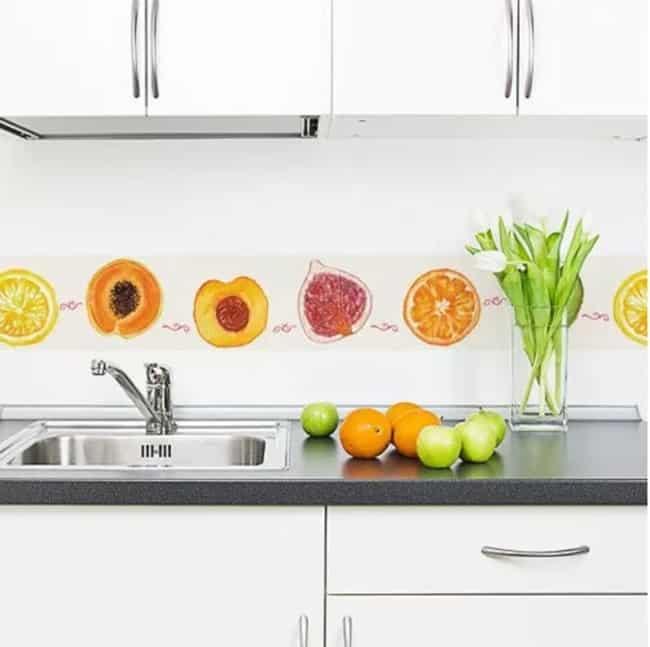 faixa para cozinha adesivo frutas