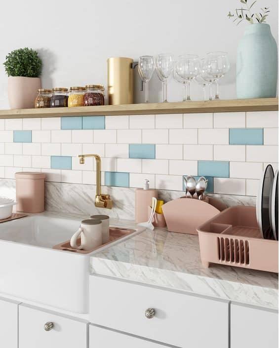 faixa para cozinha adesivo tijolo aparente