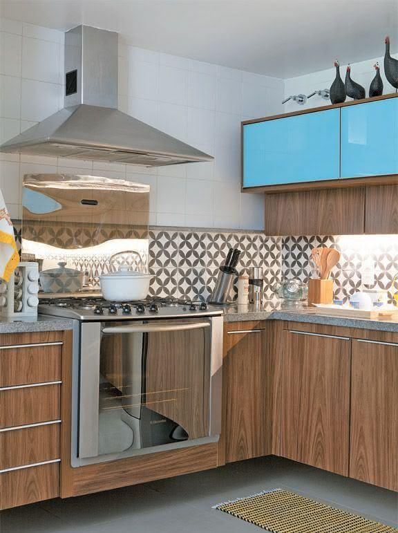 faixa para cozinha com azulejo estampa portuguesa