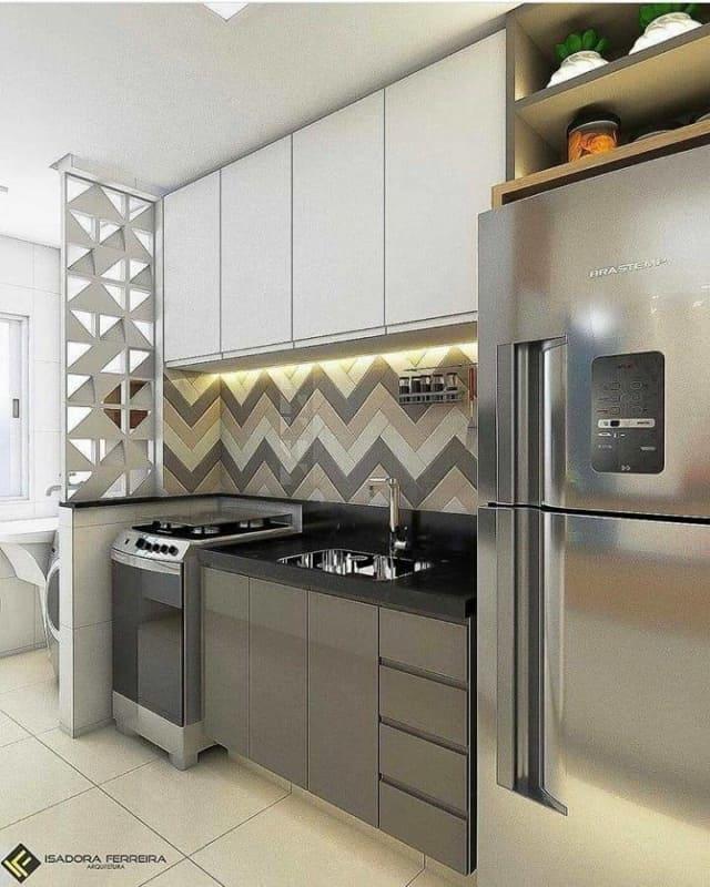 faixa para cozinha feita com azulejos